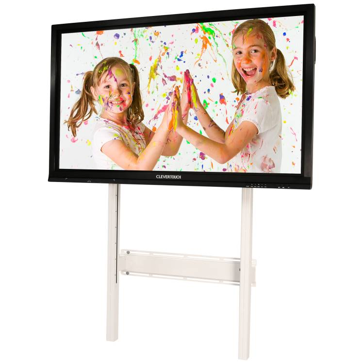 Wall Mount Screen Lift 750 for all models Clevertouch, adj. height mechanism **WHITE*