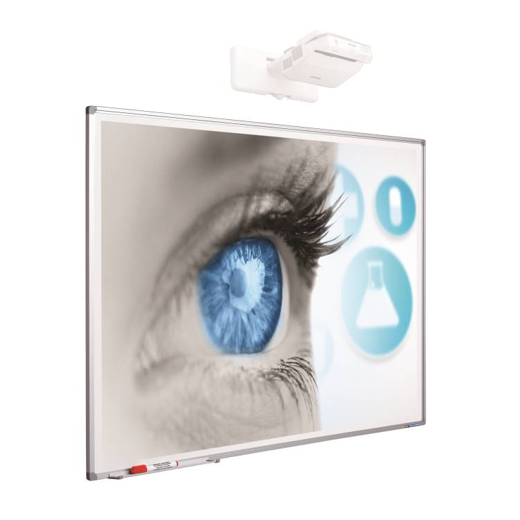 Smit 11103.999 Projectionboard Softline profile 8mm, enamel mattwhite (87 inch) 1874mm x 1171mm