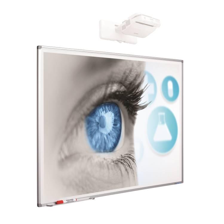 Smit 11103.999 Projectionboard Softline profile 8mm, enamel mattwhite (80 inch) 1723mm x 1077mm