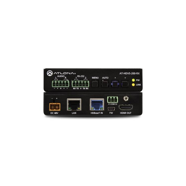 Atlona AT-HDVS-200-RX Ethernet-Enabled HDBaseT Scaler with HDMI and Analog Audio Outputs