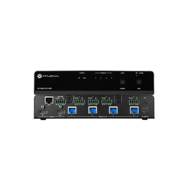 Atlona AT-UHD-CAT-4ED 4K/UHD Four-Output HDMI to HDBaseT Extended Distance Distribution Amplifier