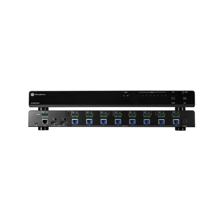 Atlona AT-UHD-CAT-8 4K/UHD Eight-Output HDMI to HDBaseT Distribution Amplifier