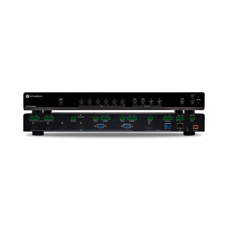 Atlona AT-UHD-CLSO-601 4K/UHD Six-Input Multi-Format Switcher with Mirrored HDMI / HDBaseT Outputs