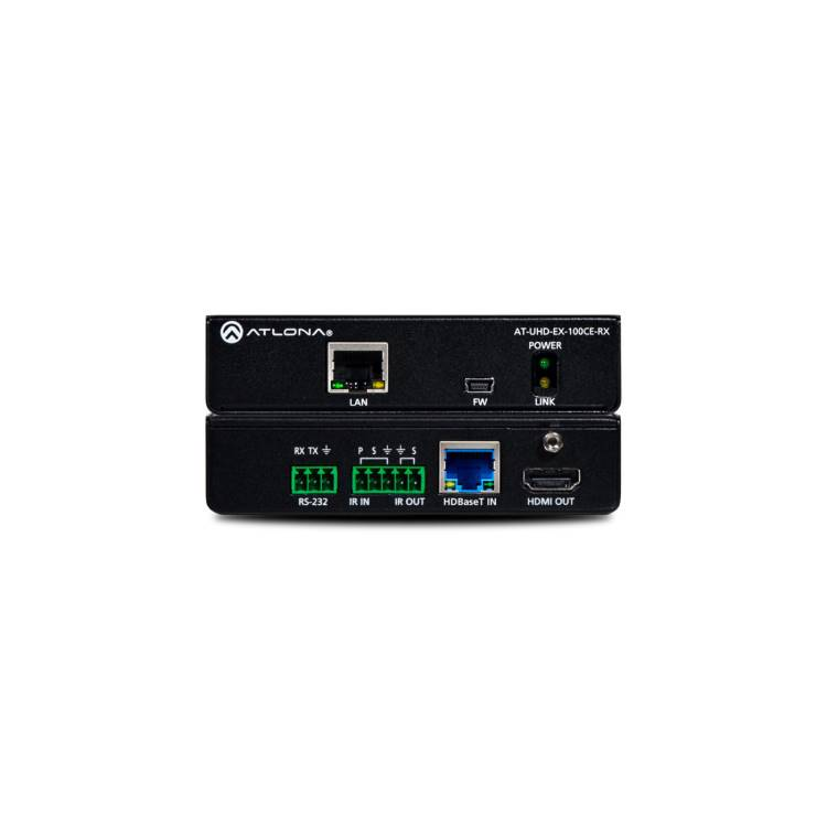 Atlona AT-UHD-EX100CERX 4K/UHD HDMI Over 100 M HDBaseT Receiver with Ethernet, Control, and PoE