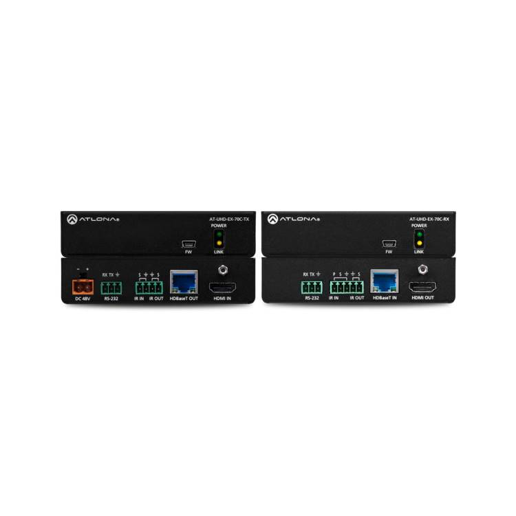 4K/UHD HDMI Over HDBaseT TX/RX with Control and PoE