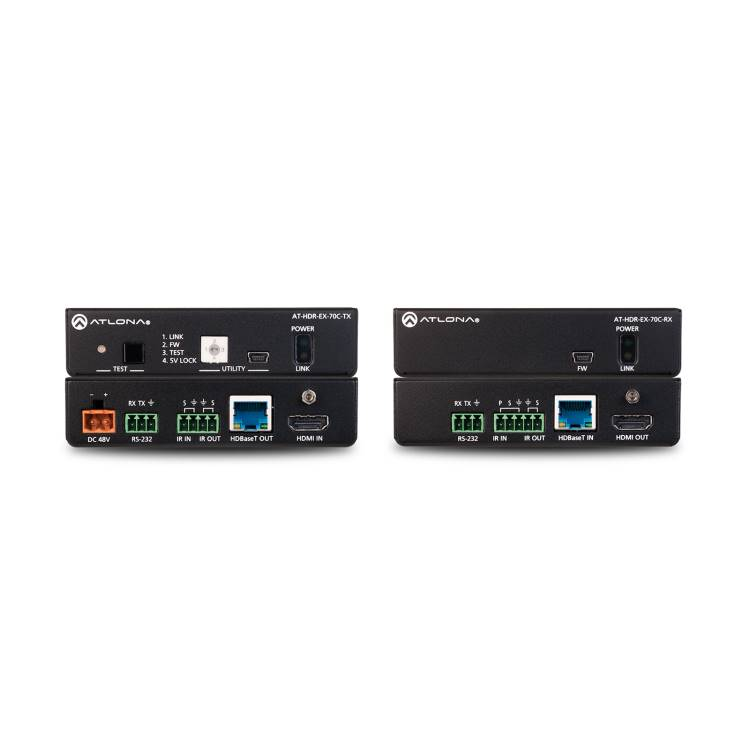 Atlona AT-HDR-EX-70CKIT 4K HDR HDMI Over HDBaseT TX/RX with Control and PoE