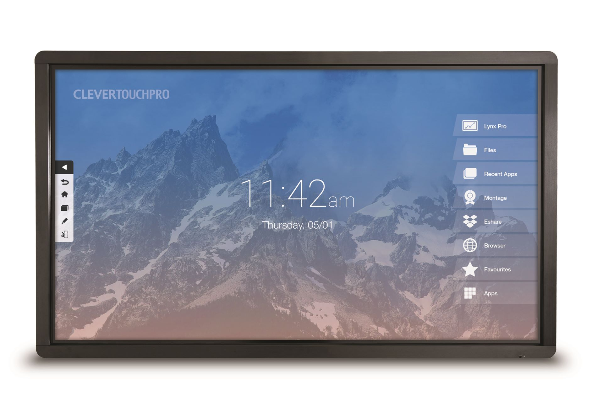 Clevertouch Lux Series 75 Quot 4k 20 Point Touch Sahara Av