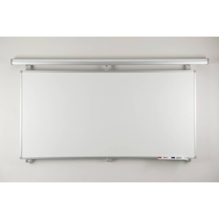 Twin Track coated steel dry-wipe board 1200 x 900mm